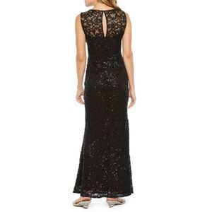 a5c855fb Blu Sage Dresses | Black Sequin And Lace Formal Dress Looks New ...